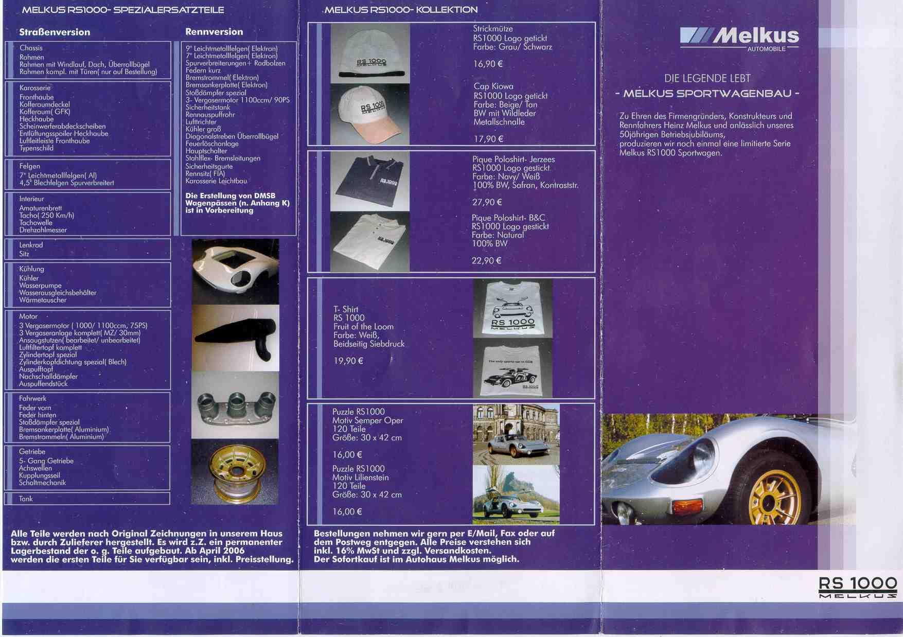 melkus rs 1000 prospekt 2006. Black Bedroom Furniture Sets. Home Design Ideas
